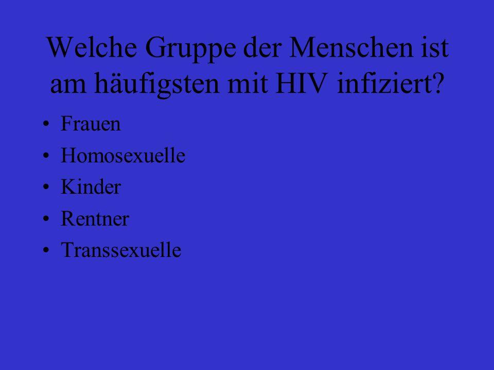 Ab wann kann HIV übertragen werden.