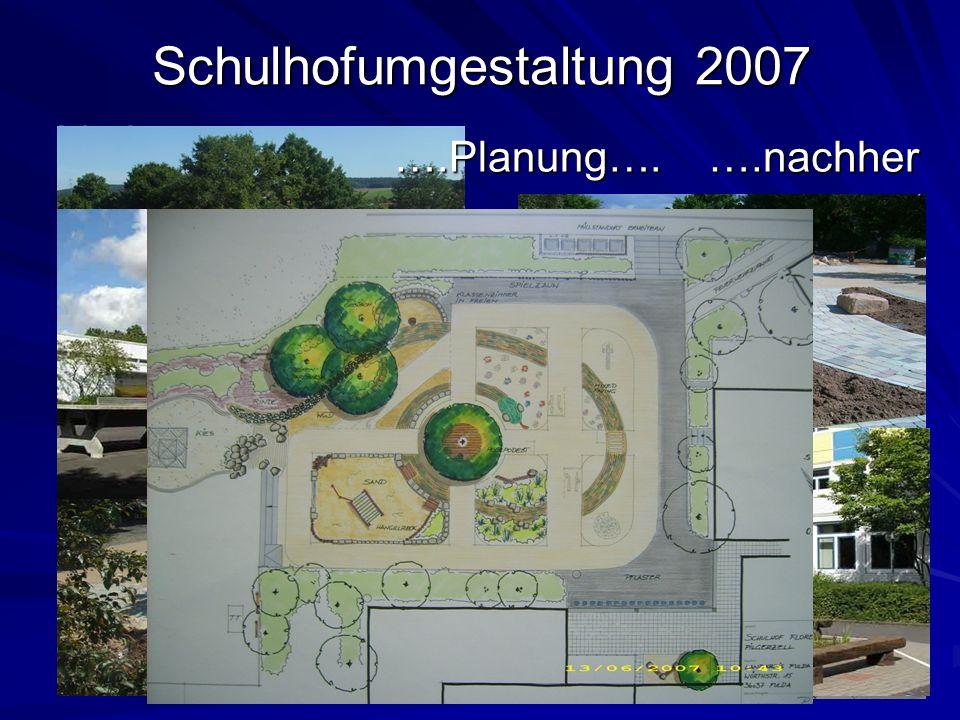 Schulhofumgestaltung 2007 Vorher… ….nachher ….Planung….