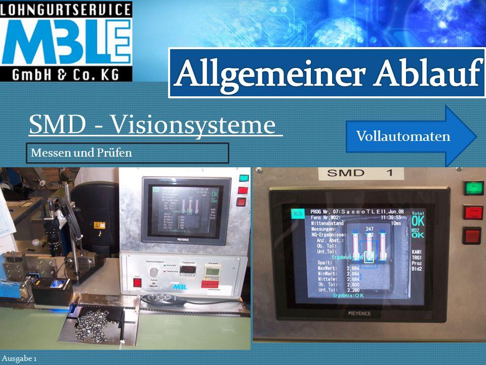 SMD - Vollautomaten Gurtwerkzeuge Ausgabe 1 Für Großserienproduktion - ab 5 Mio. Bauteile pro Jahr