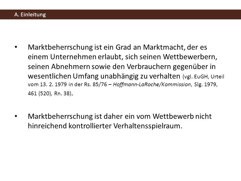 B.Einführung zum Missbrauch marktbeherrschender Stellungen nach Art.
