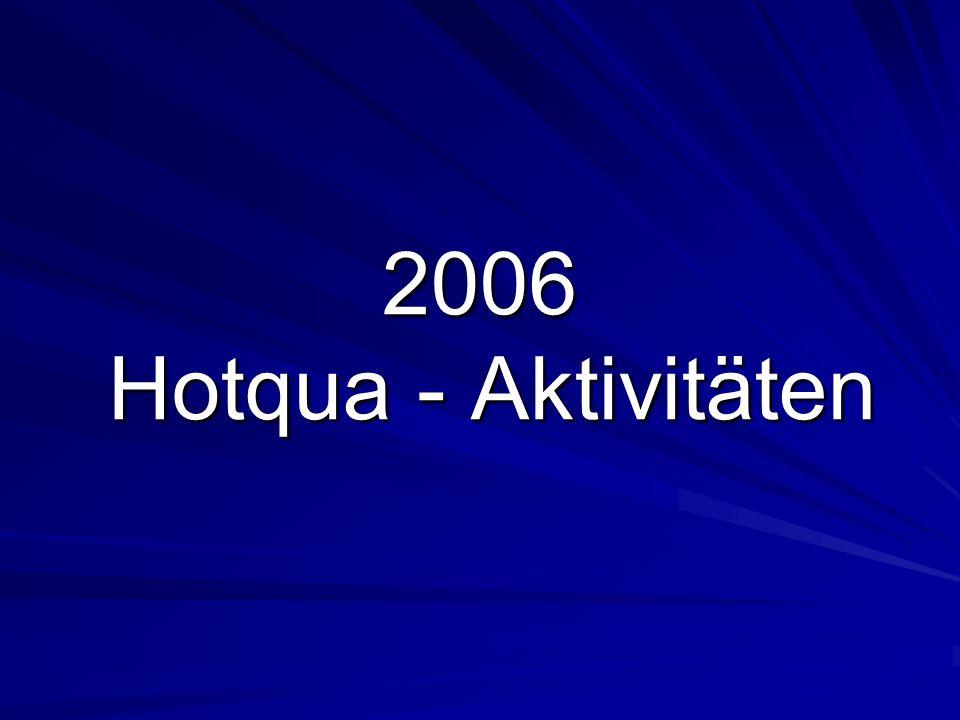 Hotqua Aktivitäten 2006 www.hotqua.de 22 Marketing Workshop Marketing Workshop in der Deutsch- Brasilianischen IHK Foto: Puerto Alegre, Brasilien, 27.09.06
