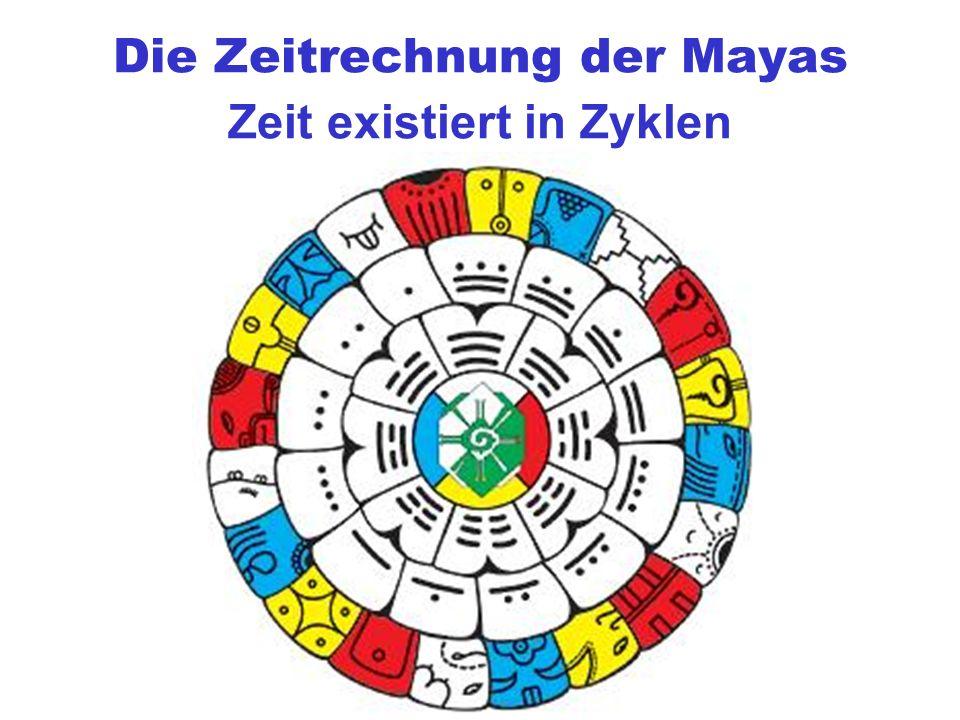 Die Zeitrechnung der Mayas Zeit existiert in Zyklen