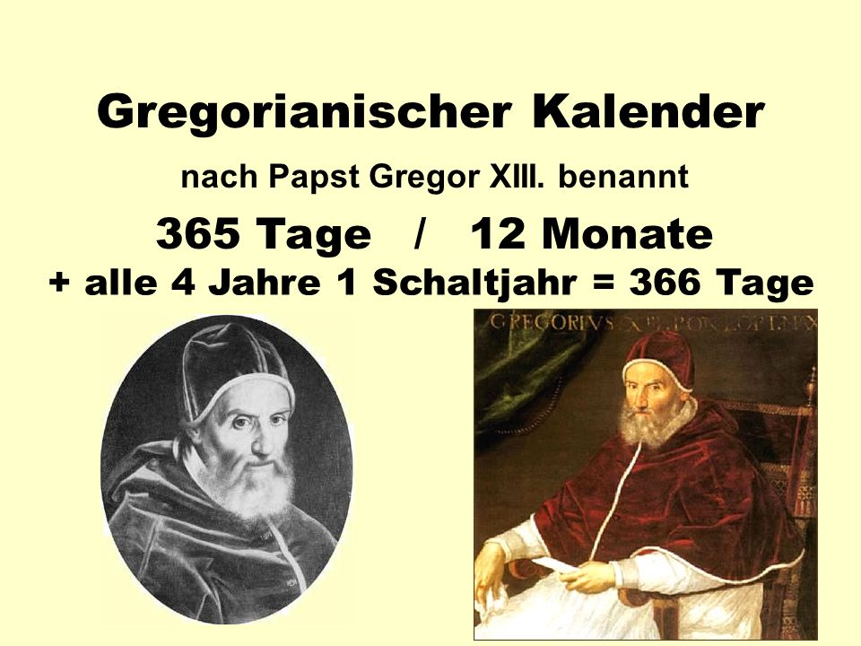 Gregorianischer Kalender nach Papst Gregor XIII.
