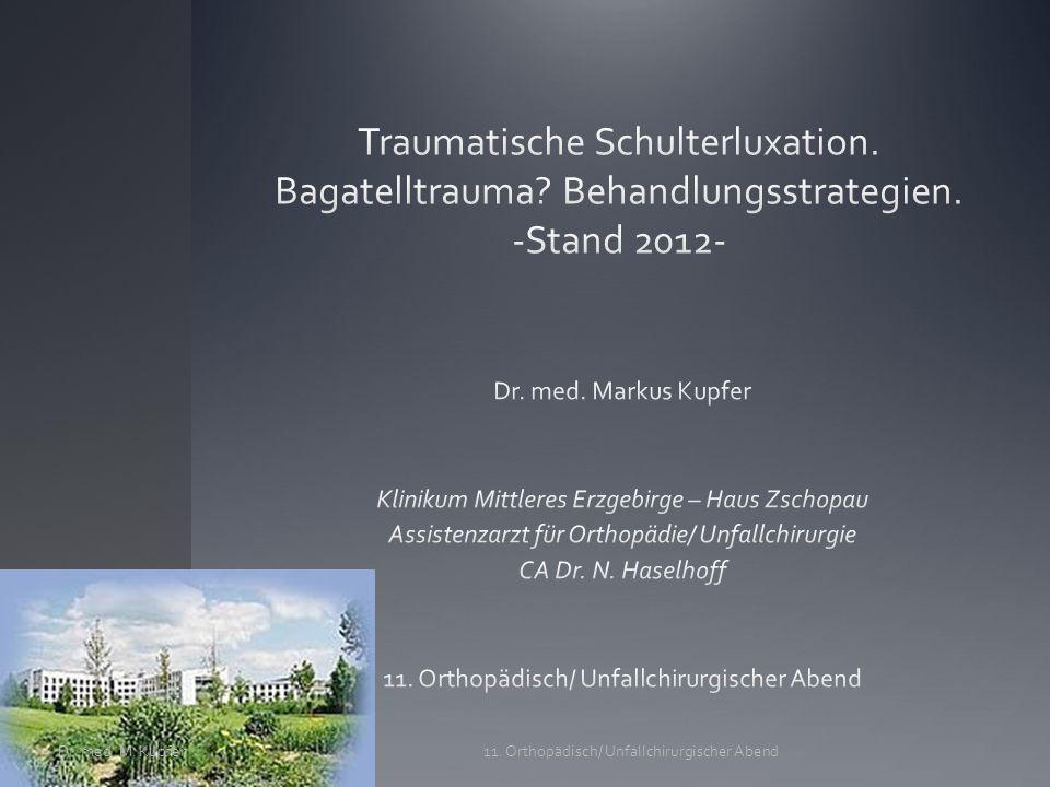 Kernaspekte/ -Fragen 1.Epidemiologie Schulterluxation 2.