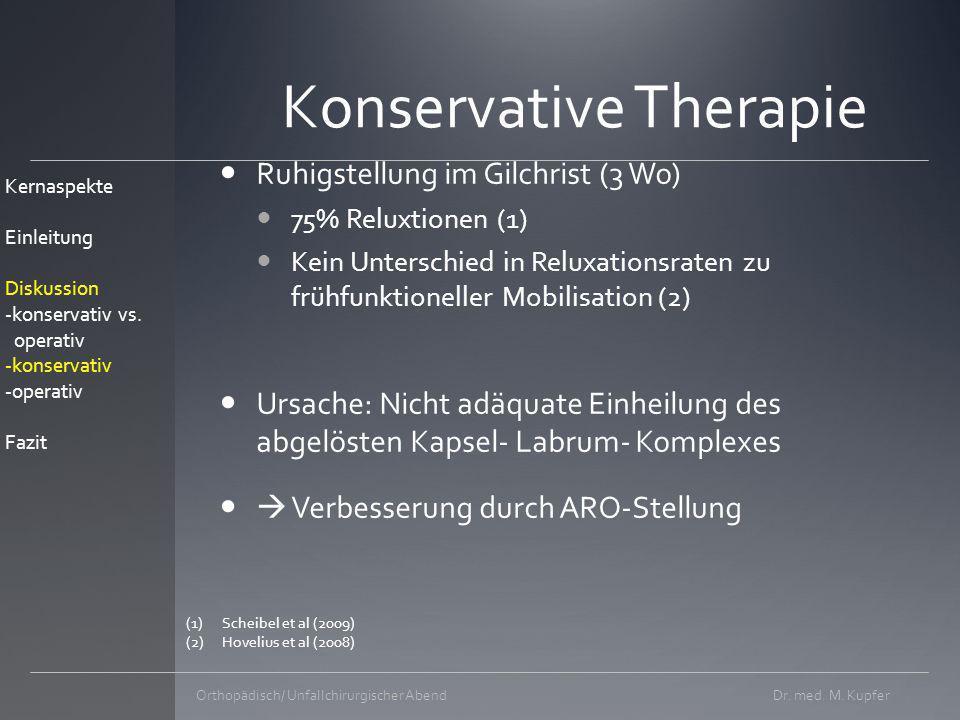 Prinzip der ARO 10° Voraussetzung intakter M.subscapularis Dr.