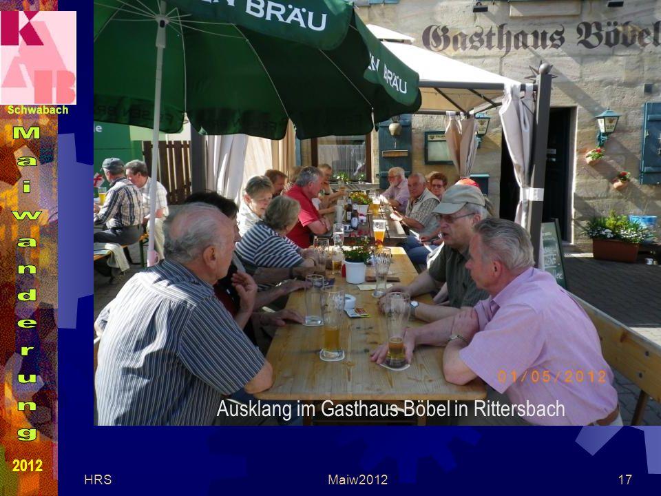 Schwabach 2012 HRSMaiw201217 Ausklang im Gasthaus Böbel in Rittersbach