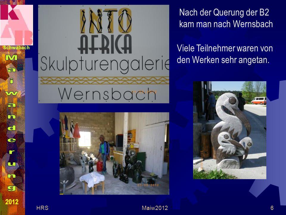 Schwabach 2012 HRSMaiw20126 Nach der Querung der B2 kam man nach Wernsbach Viele Teilnehmer waren von den Werken sehr angetan.
