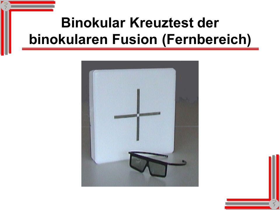 Screening-Kit der binokularen Fusion (Fernbereich) - Leuchtkasten Screening-Kit in Entfernung von 2,5 m – mit Rot-Grün-Brille Benennt das Kind die Fig
