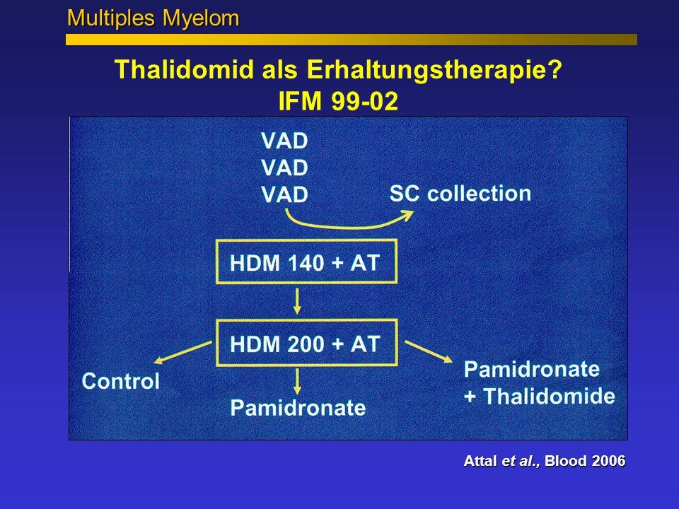 Thalidomid als Erhaltungstherapie? IFM 99-02 Attal et al., Blood 2006 Multiples Myelom