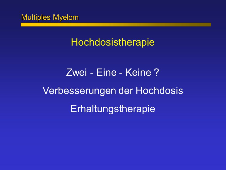 Was ist die optimale Konditionierung .Melphalan 140 + TBI vs.