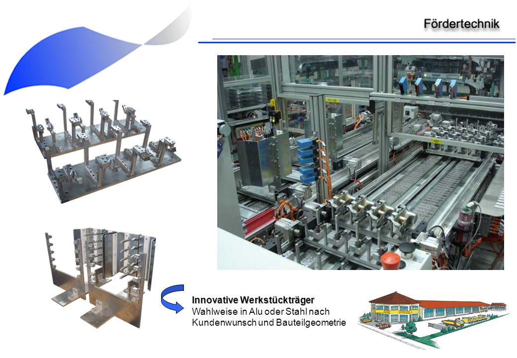 Innovative Werkstückträger Innovative Werkstückträger Wahlweise in Alu oder Stahl nach Kundenwunsch und Bauteilgeometrie