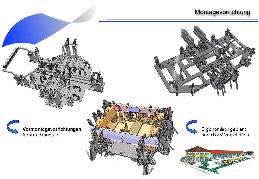 Vormontagevorrichtungen front end module Ergonomisch geplant nach UVV-Vorschriften