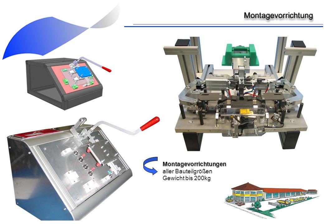 Montagevorrichtungen aller Bauteilgrößen Gewicht bis 200kg