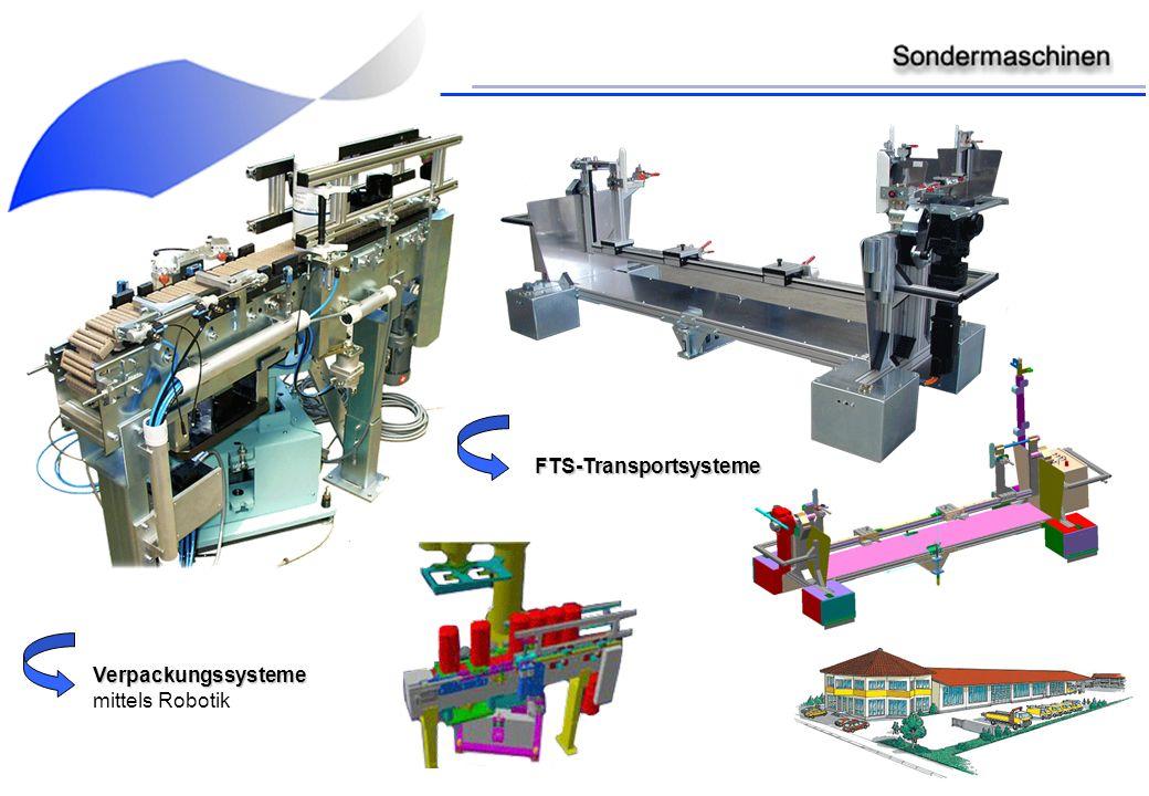 Verpackungssysteme mittels Robotik FTS-Transportsysteme