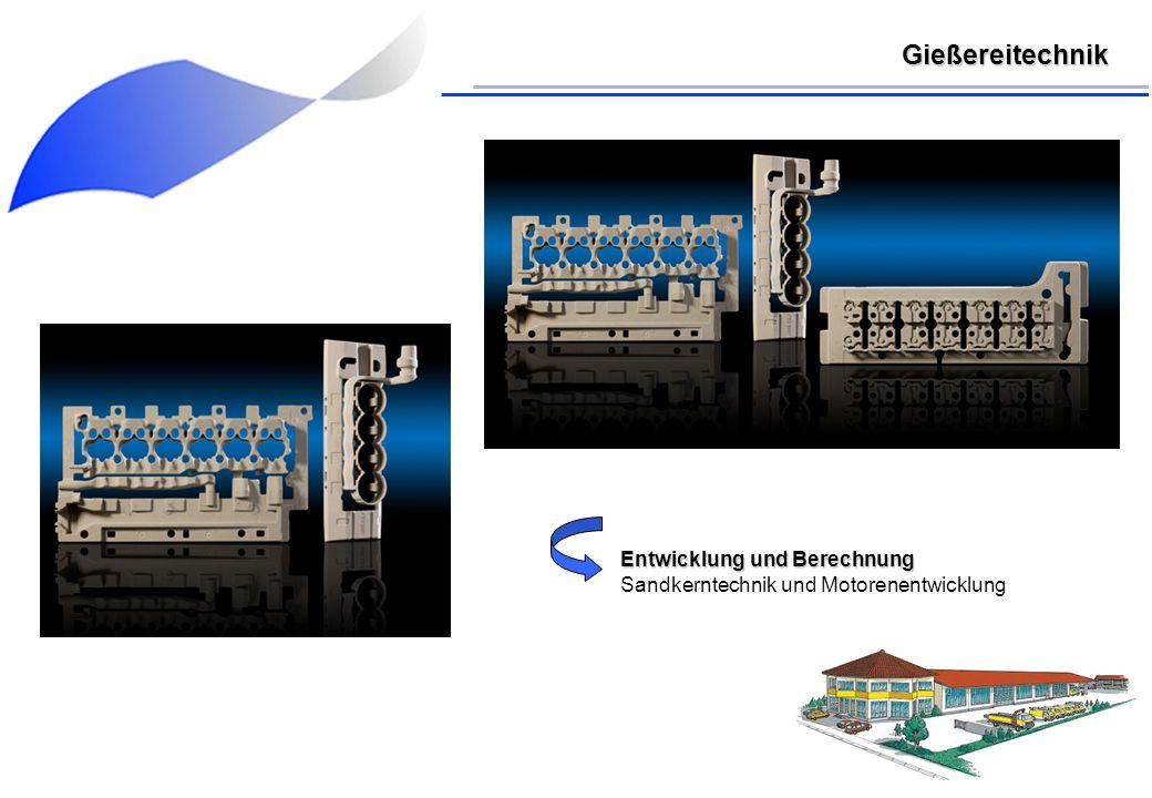 Entwicklung und Berechnung Sandkerntechnik und Motorenentwicklung Gießereitechnik