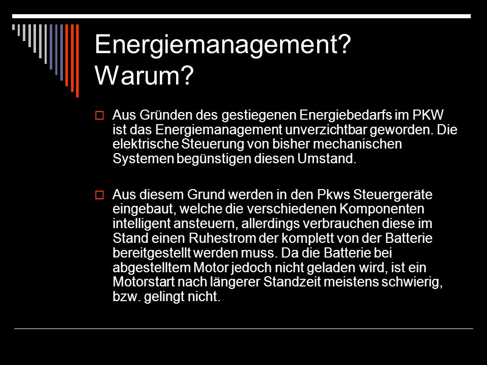 Energiemanagement.Warum.