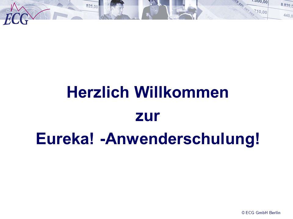 © ECG GmbH Berlin Berichterstattung linke Spalte = Soll- Finanzie- rung lt.