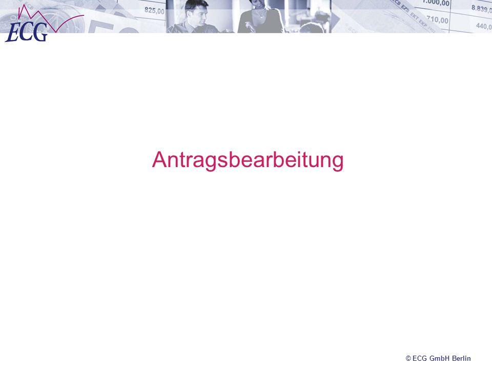 © ECG GmbH Berlin Antragsbearbeitung