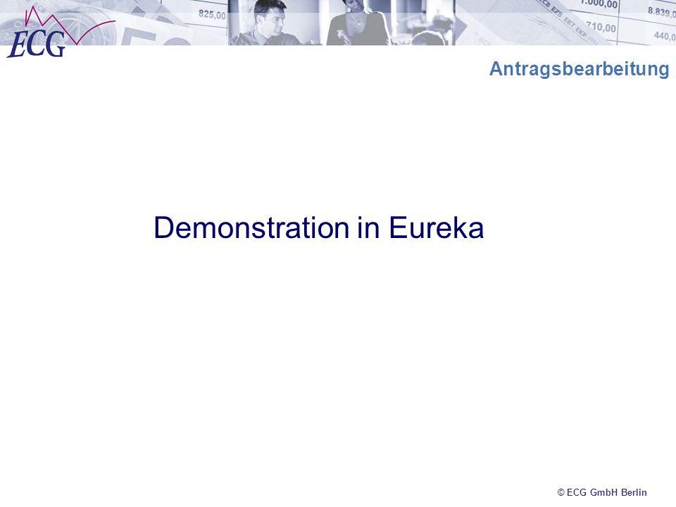 © ECG GmbH Berlin Antragsbearbeitung Demonstration in Eureka