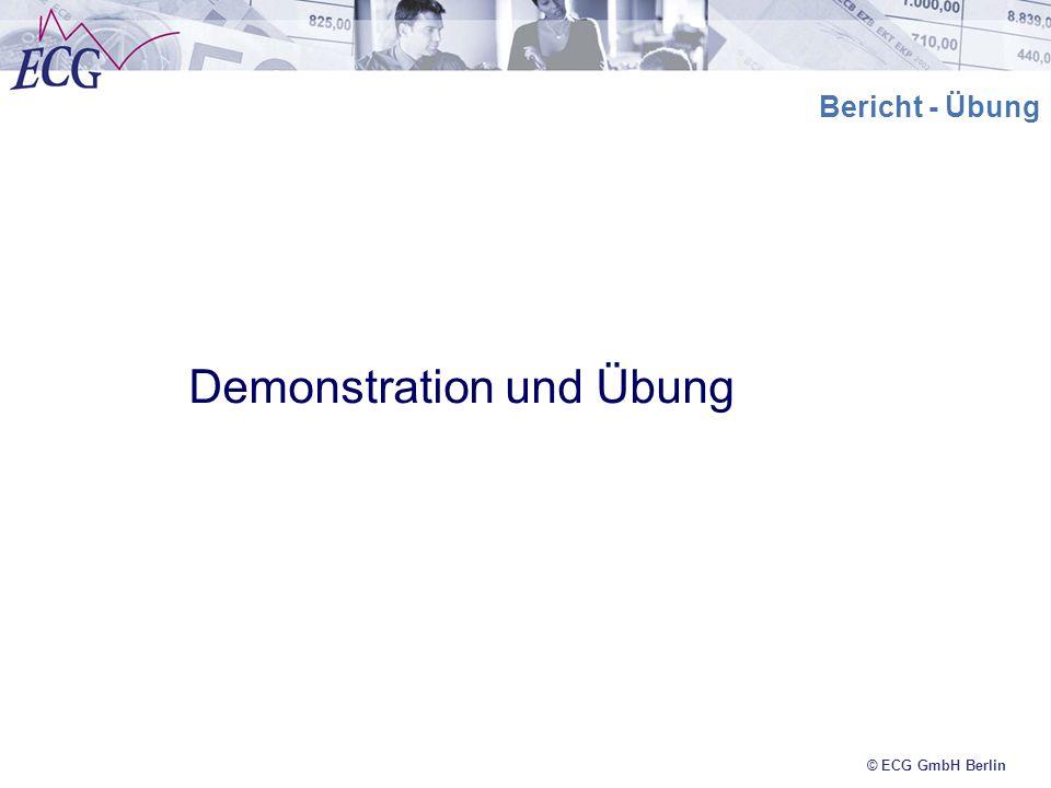 © ECG GmbH Berlin Bericht - Übung Demonstration und Übung