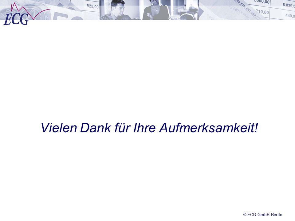 © ECG GmbH Berlin Vielen Dank für Ihre Aufmerksamkeit!