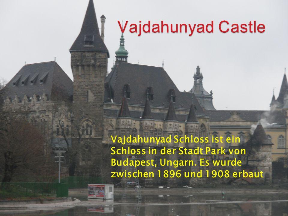 Vajdahunyad Schloss ist ein Schloss in der Stadt Park von Budapest, Ungarn.