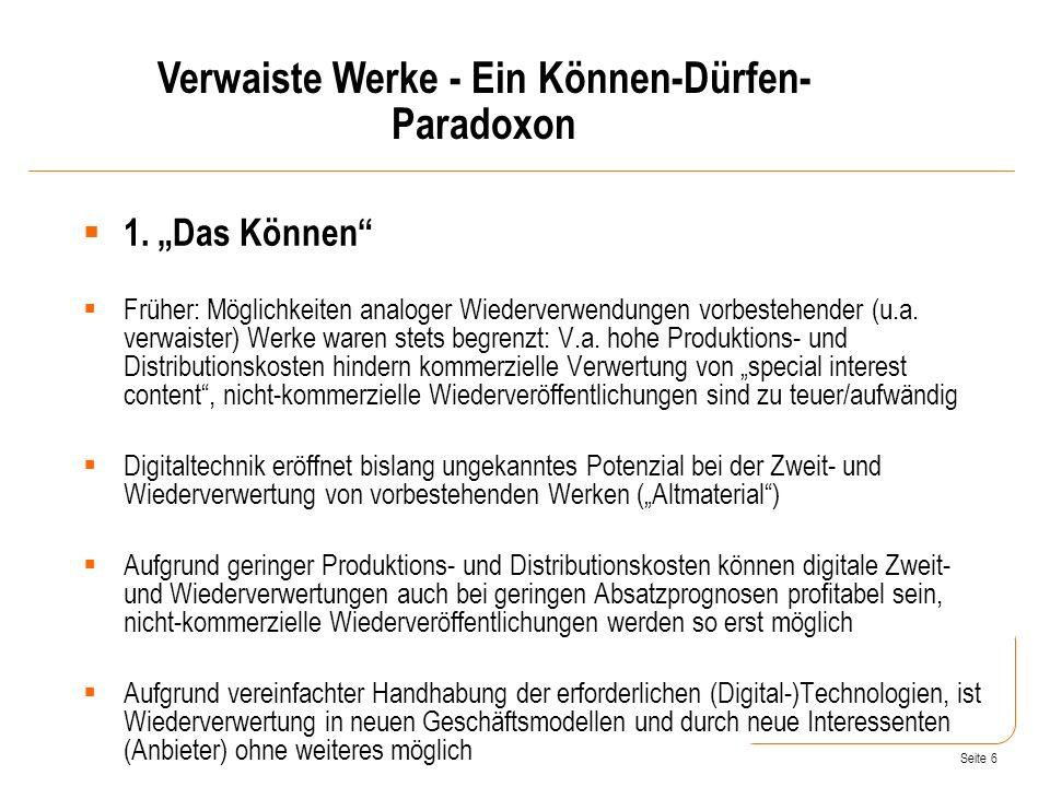 Seite 6 1.Das Können Früher: Möglichkeiten analoger Wiederverwendungen vorbestehender (u.a.