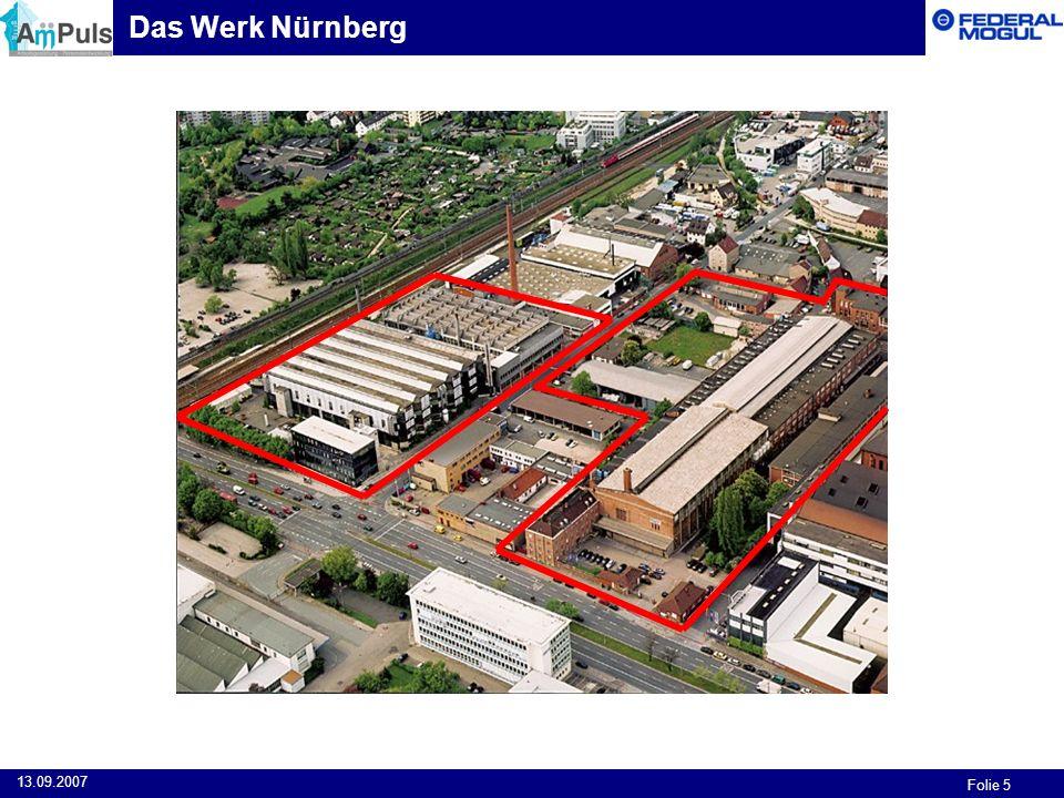 Folie 5 13.09.2007 Das Werk Nürnberg