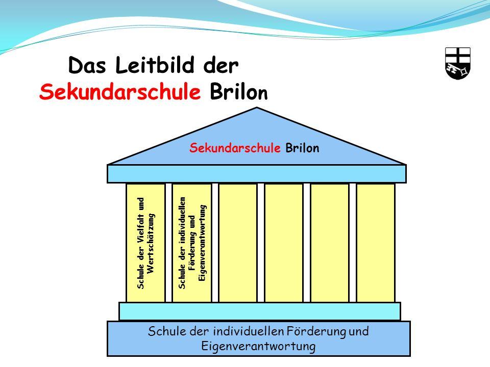 Das Leitbild der Sekundarschule Brilo n Sekundarschule Brilon Schule der Vielfalt und Wertschätzung Schule der individuellen Förderung und Eigenverantwortung