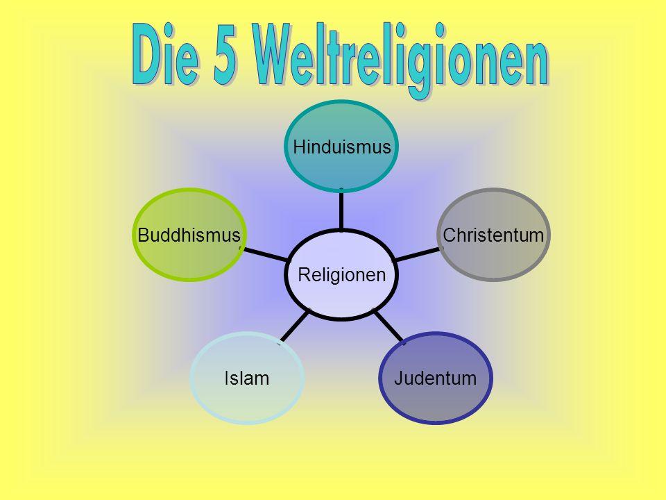 Religionen HinduismusChristentumJudentumIslamBuddhismus
