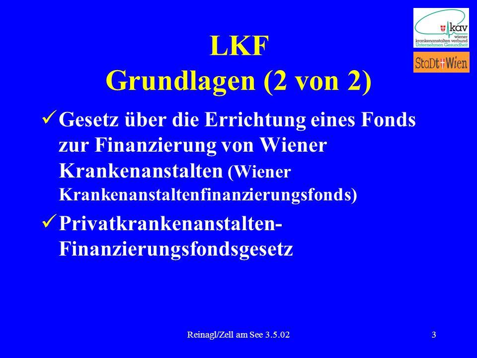 Reinagl/Zell am See 3.5.023 LKF Grundlagen (2 von 2) Gesetz über die Errichtung eines Fonds zur Finanzierung von Wiener Krankenanstalten (Wiener Krank