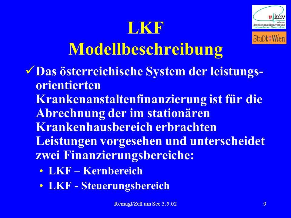 Reinagl/Zell am See 3.5.029 LKF Modellbeschreibung Das österreichische System der leistungs- orientierten Krankenanstaltenfinanzierung ist für die Abr