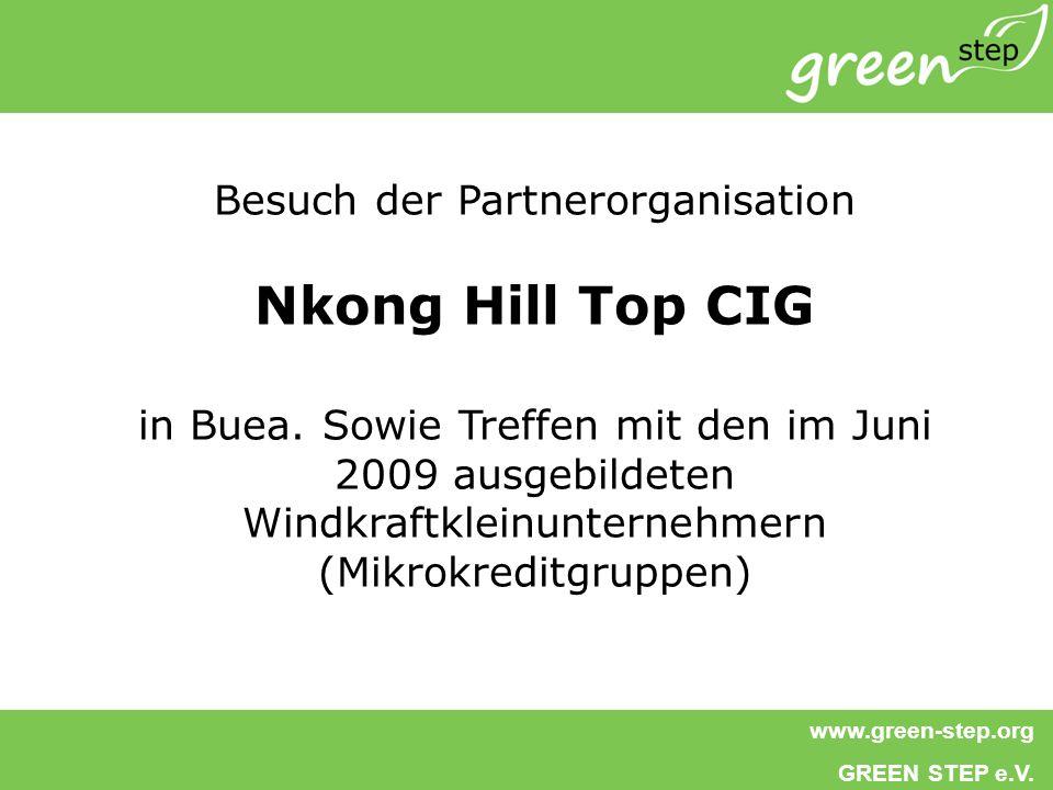 www.green-step.org GREEN STEP e.V.Besuch der Partnerorganisation Nkong Hill Top CIG in Buea.
