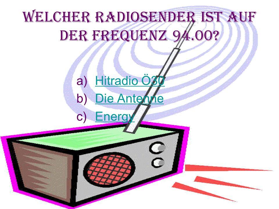 Welcher Radiosender ist auf der Frequenz 94.00.