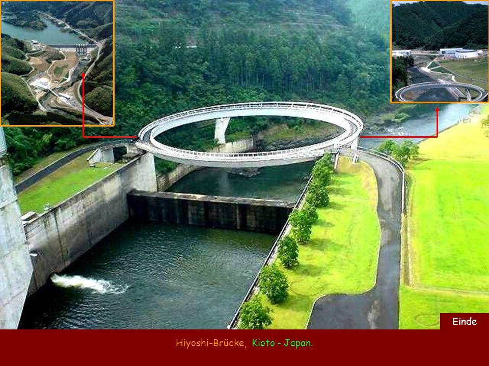 Hiyoshi-Brücke, Kioto - Japan. Einde