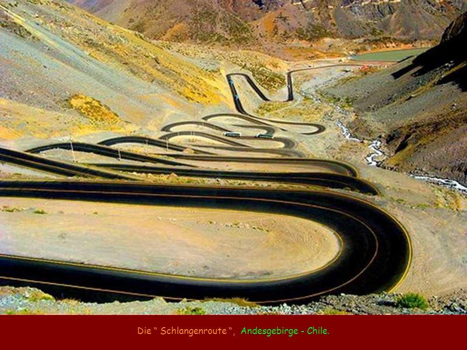 Die Schlangenroute, Andesgebirge - Chile.