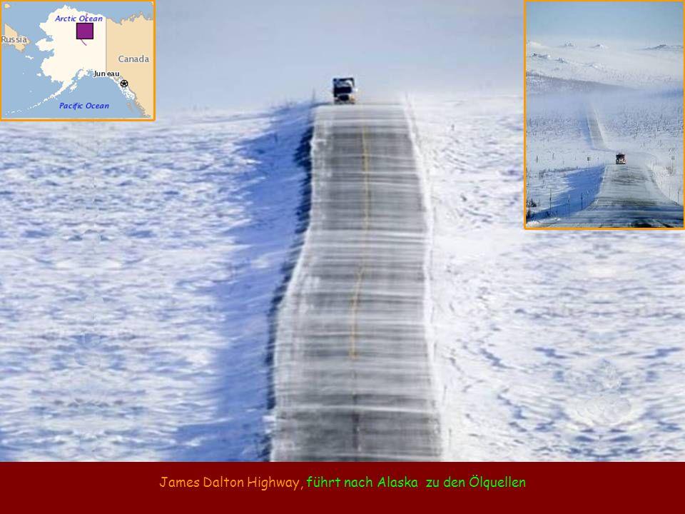 James Dalton Highway, führt nach Alaska zu den Ölquellen