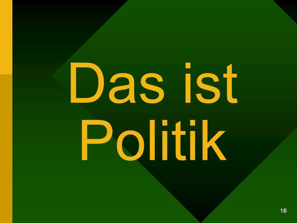 16 Das ist Politik