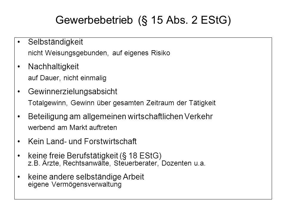 Gewerbebetrieb (§ 15 Abs.