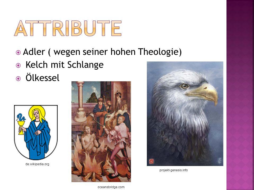 Adler ( wegen seiner hohen Theologie) Kelch mit Schlange Ölkessel projekt-genesis.info de.wikipedia.org oceansbridge.com