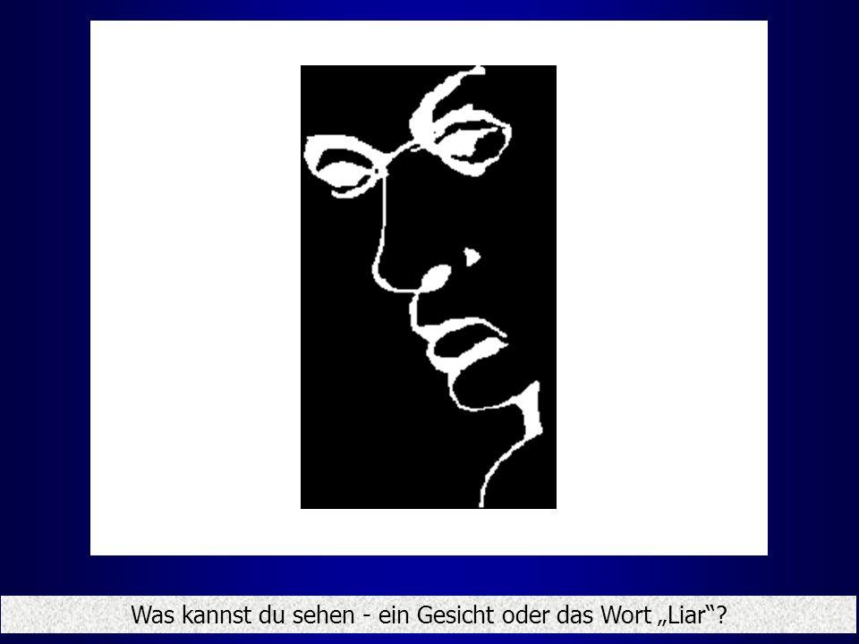 Was kannst du sehen - ein Gesicht oder das Wort Liar?