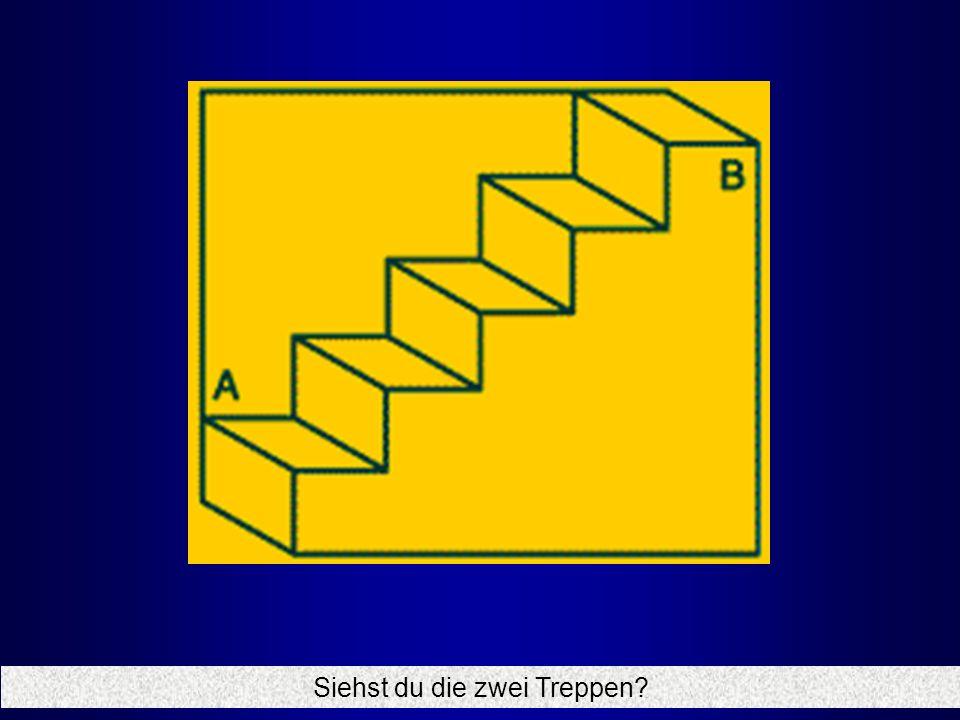Siehst du die zwei Treppen?