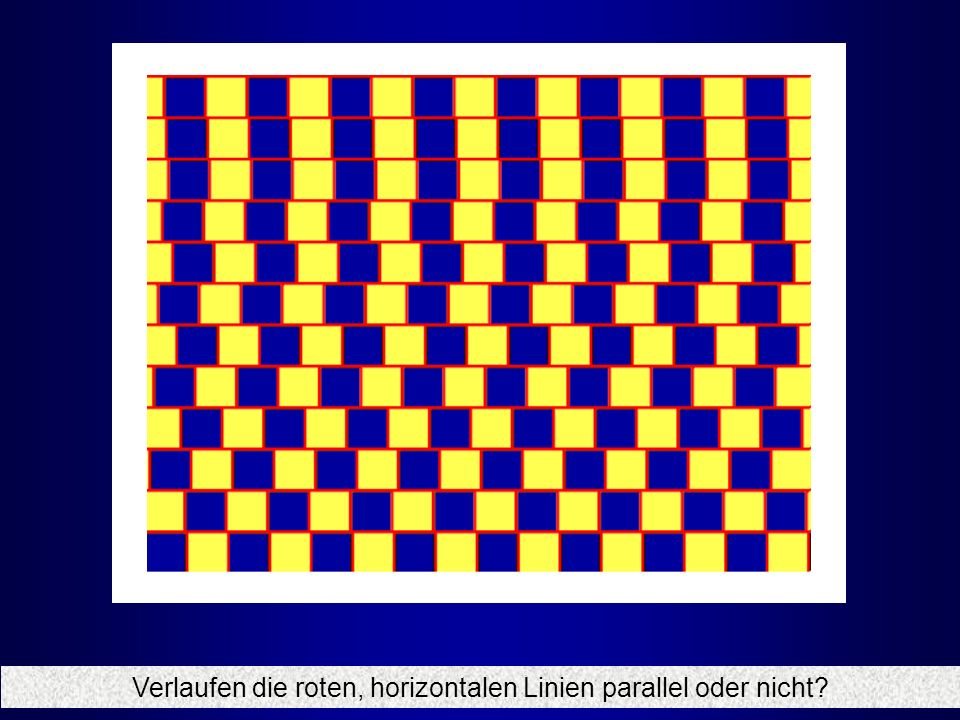 Verlaufen die roten, horizontalen Linien parallel oder nicht?