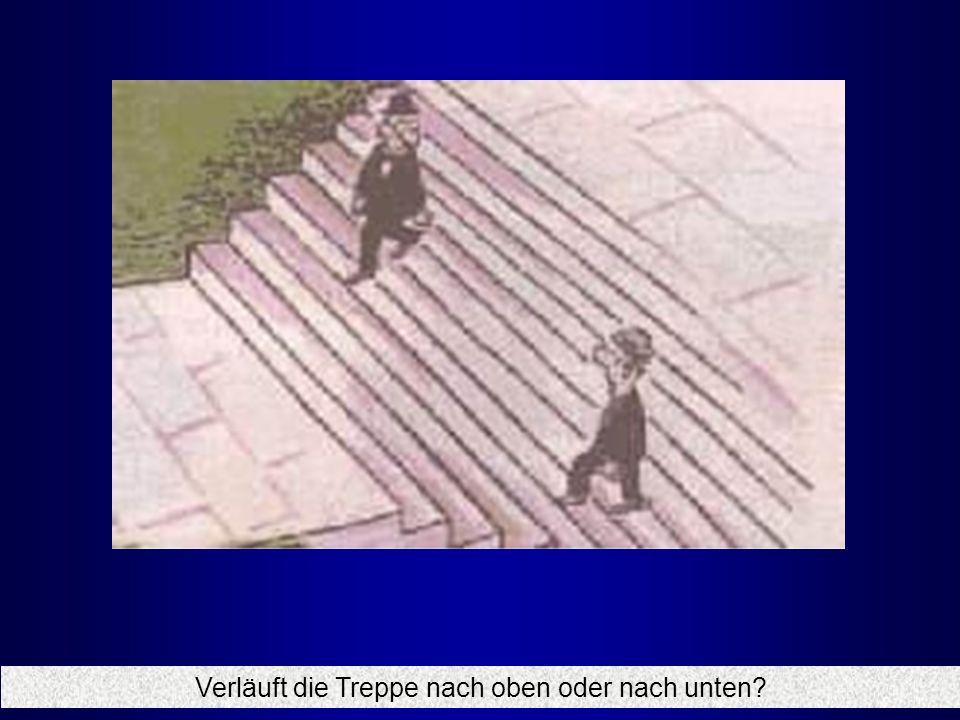 Verläuft die Treppe nach oben oder nach unten?