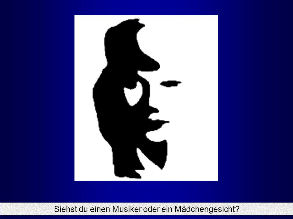 Siehst du einen Musiker oder ein Mädchengesicht?
