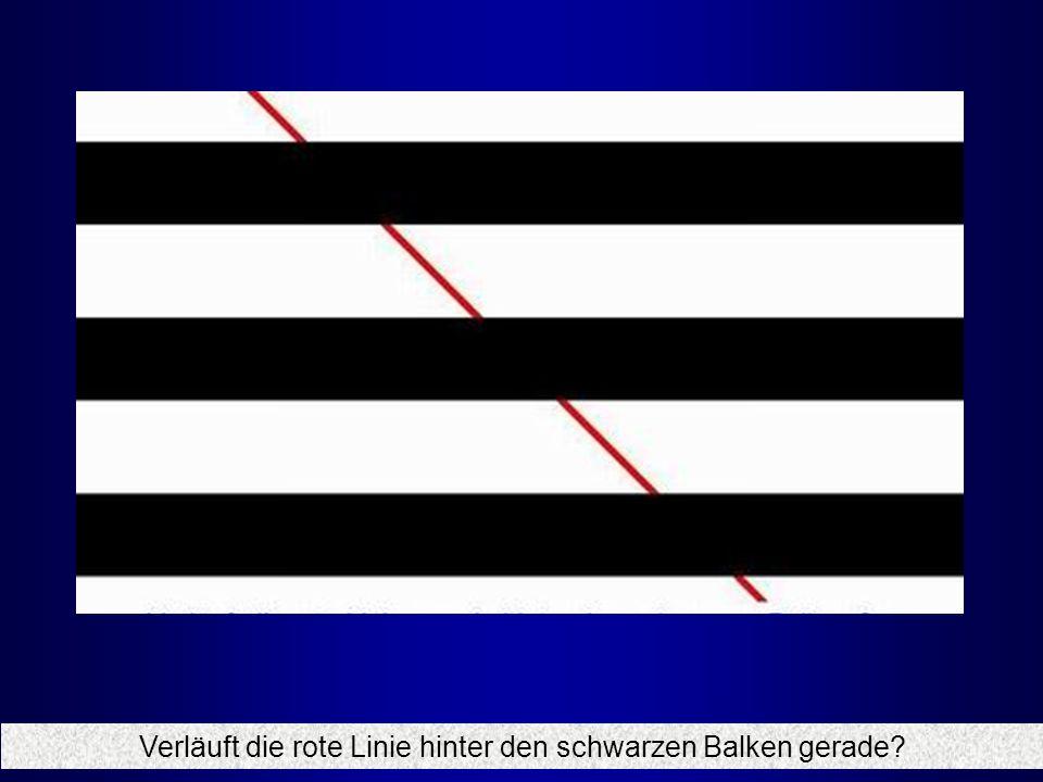Verläuft die rote Linie hinter den schwarzen Balken gerade?