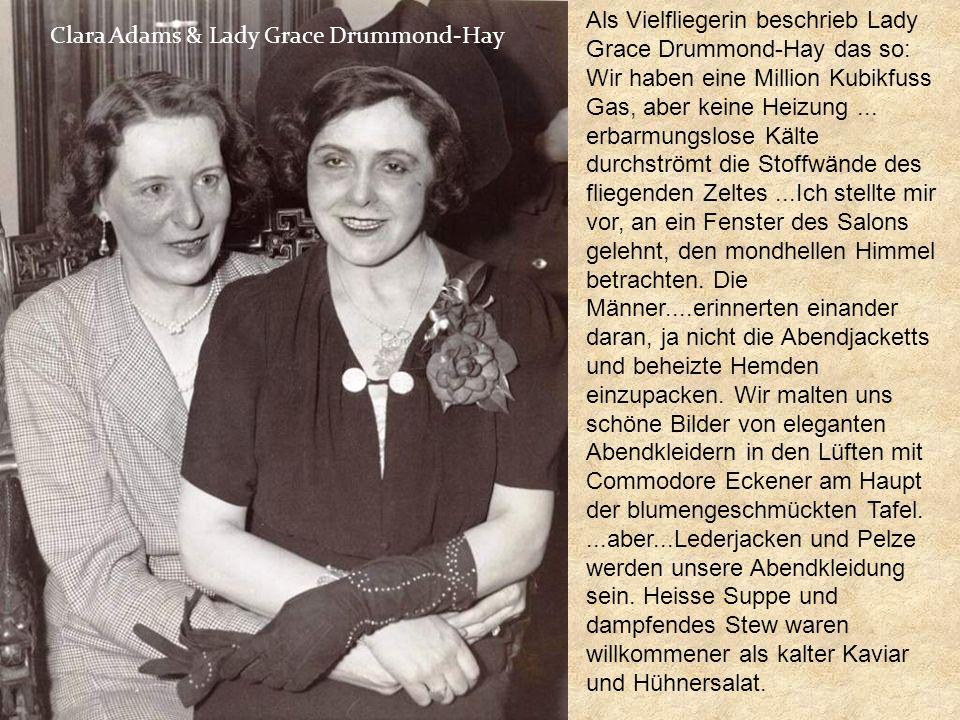 Lady Grace Drummond-Hay, eine Journalistin war an Bord des Graf Zeppelin auf seiner Auslieferungsfahrt in die U.S.