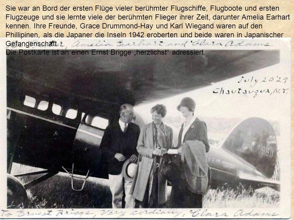 Clara bezahlte stet ihre Reisen.Sie fotografiert und sekkierte die Crew um Autogramme.