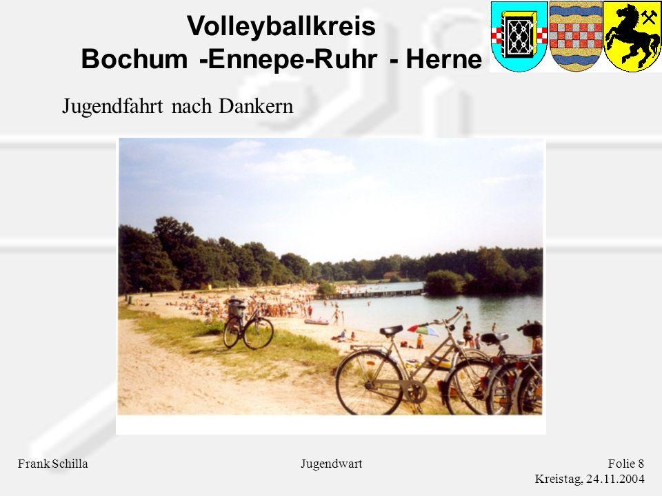 Volleyballkreis Bochum -Ennepe-Ruhr - Herne Frank SchillaFolie 8 Kreistag, 24.11.2004 Jugendwart Jugendfahrt nach Dankern