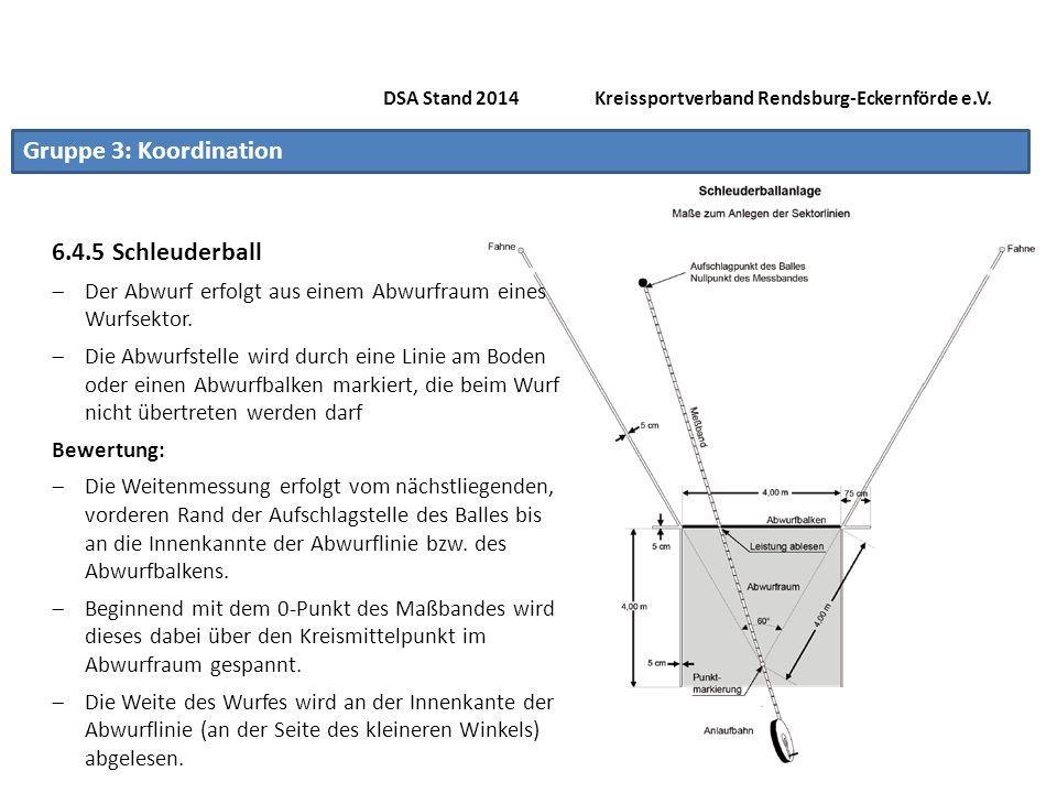 Gruppe 3: Koordination 6.4.6 Seilspringen DSA Stand 2014 Kreissportverband Rendsburg-Eckernförde e.V.